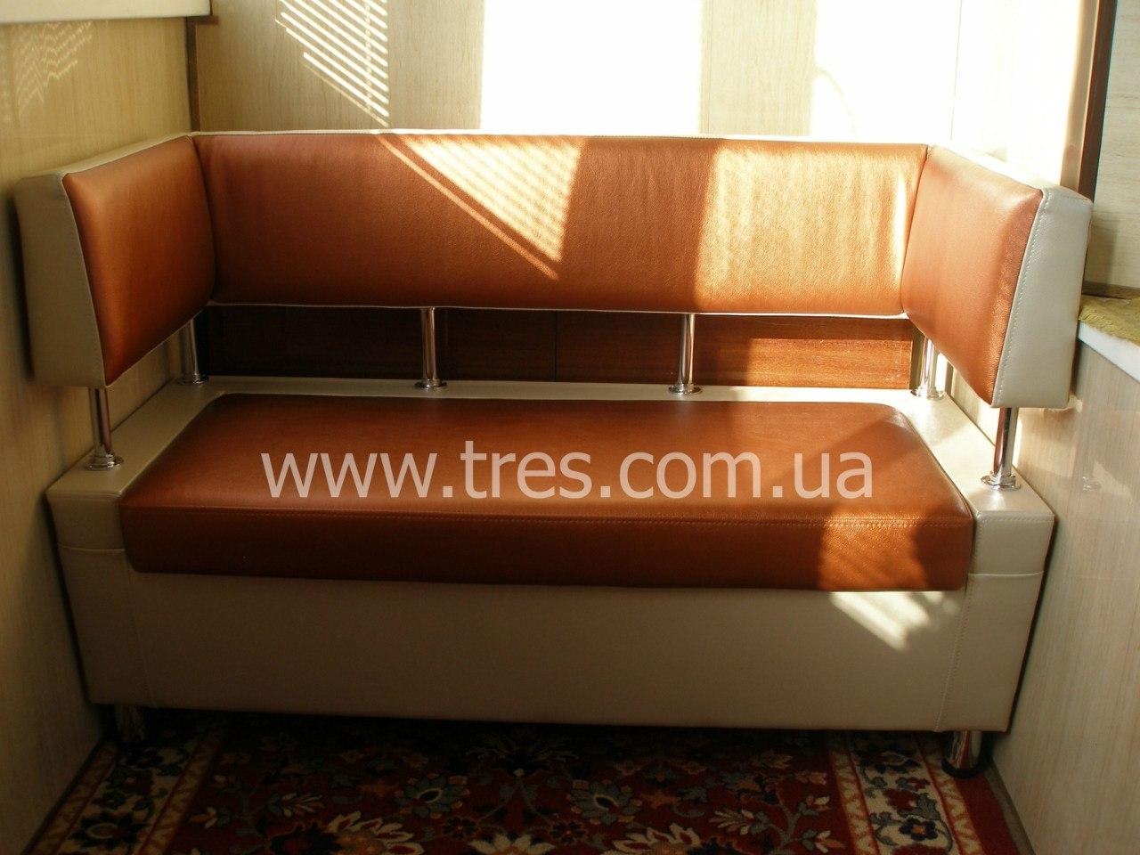 Кухонная лавка 777 с п-образной спинкой на кухню диван для к.